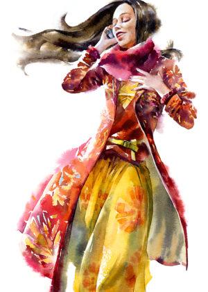 Watercolour girls